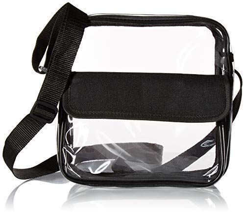 Clear Cross-Body Messenger Shoulder Bag, PGA, NCAA & NFL Stadium Approved Transparent Purse, See Through Security Handbag