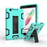 LG G Pad X 8.0 / G Pad III 8.0 Case,Rugged High Impact Hybrid Drop proof Armor Defender Protection Case Built in Kickstand for LG G Pad X 8.0 V521/G Pad III 8.0 V525 8-Inch Tablet (green+black)