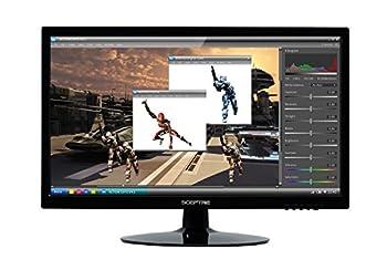 """Sceptre 1600x900 Hdmi Dvi Vga Led Hd Monitor - E205w-16008a 20"""" True Black (2017) 0"""