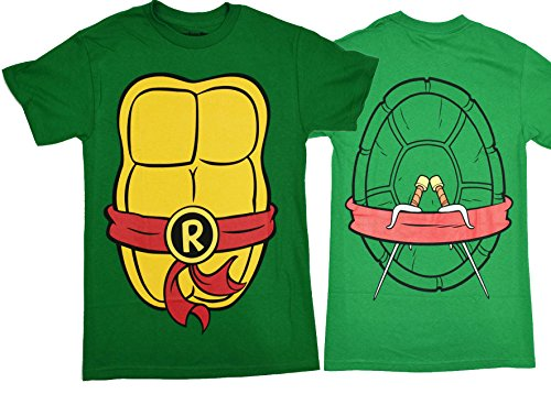 [Teenage Mutant Ninja Turtles Costume Mens T-shirt (XXL , Raphael)] (Ninja Costume Man)