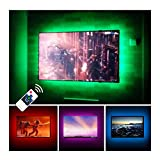 TV LED Backlights USB Bias Lighting For 60'' 65'' 70'' Inches Television Monitor Sony LG Samsung HDTV Game Room Home Movie Theater Decor - Color Changing Wireless Remote