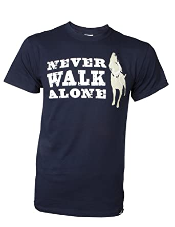 a87af1e26 Amazon.com: Dog is Good Unisex Never Walk Alone T-Shirts - Great ...