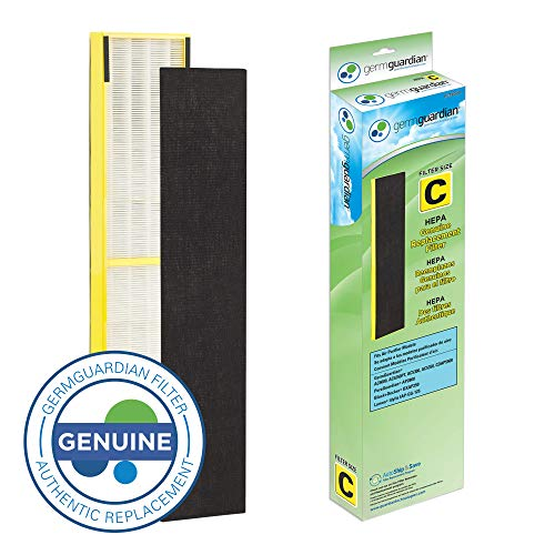 Germ Guardian FLT5000 True HEPA GENUINE Air Purifier Replacement Filter C for GermGuardian AC5000E, AC5250PT, AC5300B, AC5350B, CDAP5500, and More