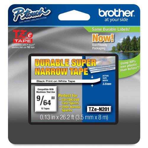 Brother Genuine P-touch TZE-N201 Tape, 9/64