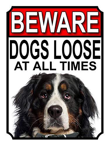 常に犬が緩んでいることに注意してください 金属板ブリキ看板注意サイン情報サイン金属安全サイン警告サイン表示パネル