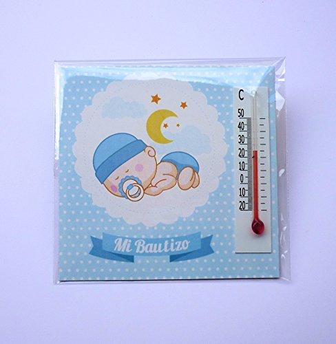 Detalles y Regalos de Bautizo Niño para invitados - Imanes con termómetro como Recuerdo de Bautizo - Bonitos y Originales - Pack 40 unidades - ¡Vuestros ...