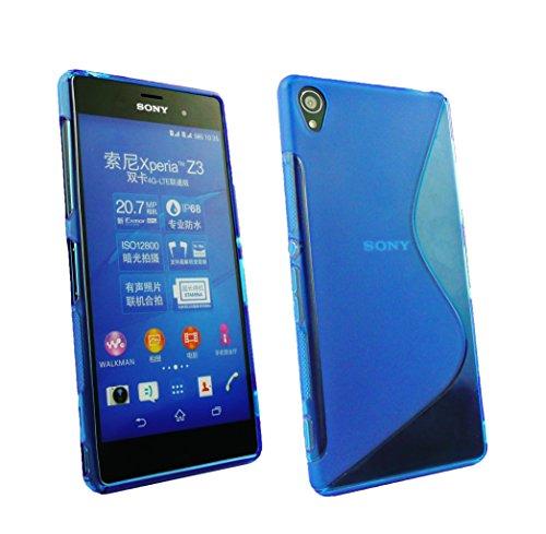 Emartbuy® Sony Xperia Z3 / Xperia Z3 Dual Shiny Lustroso TPU Gel Funda Carcasa Case Cover Paquete de 5 - Hot Rosa, Rojo, Azul, Amarillo, Verde Azul Ultra Slim Gel