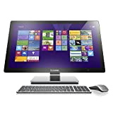 Lenovo A740 27-Inch All-in-One Touchscreen Desktop (F0AM004KUS) Silver Grey