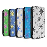 STUFF4 PU Leather Wallet Flip Case/Cover for Apple iPhone X/10 / Pack (14 pcs) Design / Sun/Sunshine Pattern Collection