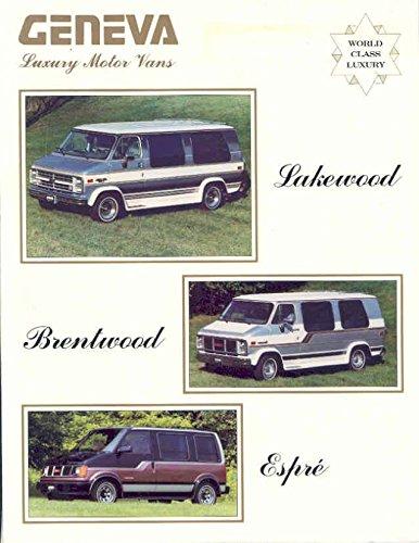 1989 Geneva Lakewood Espre Conversion Van Brochure