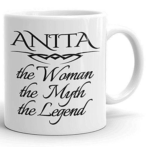 Best Personalized Womens Gift! The Woman the Myth the Legend - Coffee Mug Cup for Mom Girlfriend Wife Grandma Sister in the Morning or the Office - A Set 3