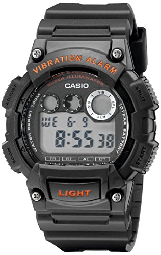 Casio Men's W735H-8AVCF Super Illuminator Black Watch (Watch Alarm Casio)