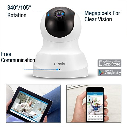 TENVIS-HD-IP-Camera-Wireless-IP-Camera-with-Two-way-Audio-Night-Vision-Camera-24GHz-720P-Camera-for-Pet-Baby-Monitor-Home-Security-Camera-Motion-Detection-Indoor-Camera-with-Micro-SD-Card-Slot