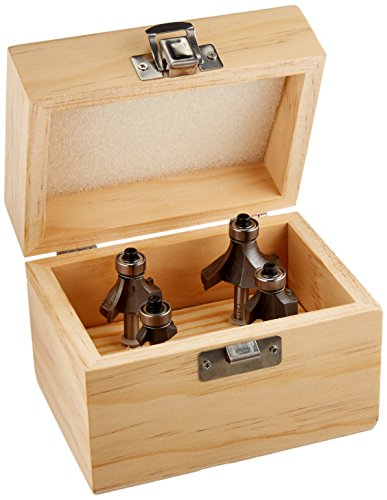 - Steelex D1062 Round Over Router Bit Set 4 Piece 1/4