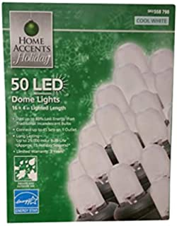 home accents holiday 50 count led cool white dome indooroutdoor christmas lights with