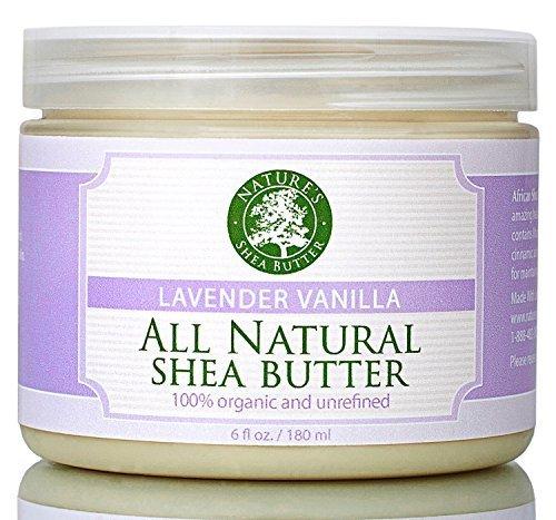 Organic Natural Lavender Vanilla Shea Butter - Nature