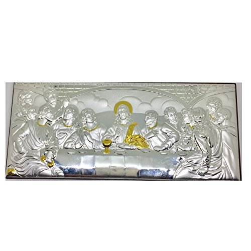 Last Supper Icon - Galileecraft The Last Supper Silver 950' Icon Made in Holy Land