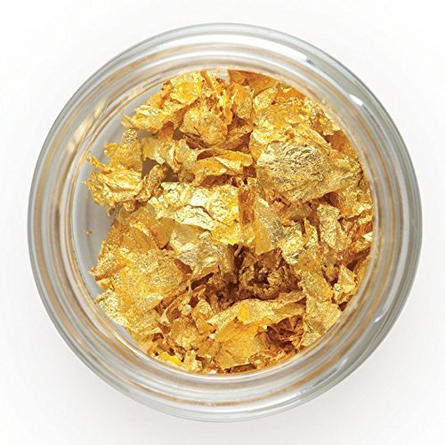 Q-loca 23.75K Edible Gold Leaf Flakes, Decorating Cake (500 mg) by Q-loca (Image #2)