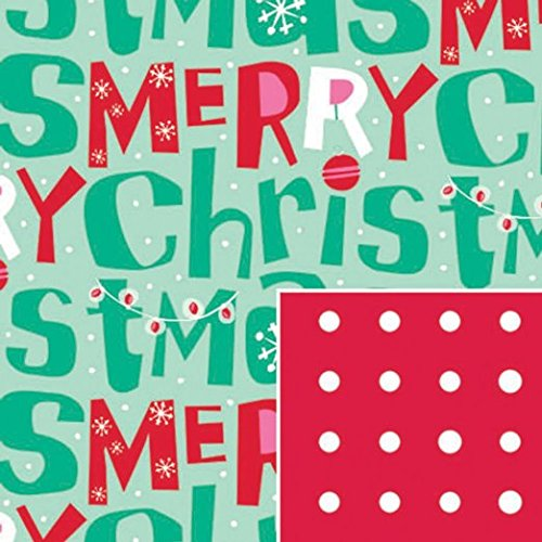 Merry Christmas Reversible Gift Wrap Roll 24