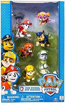 Patrulla Canina Paw Patrol - Set de 6 Figuras, 6 cm (6026180): Amazon.es: Juguetes y juegos