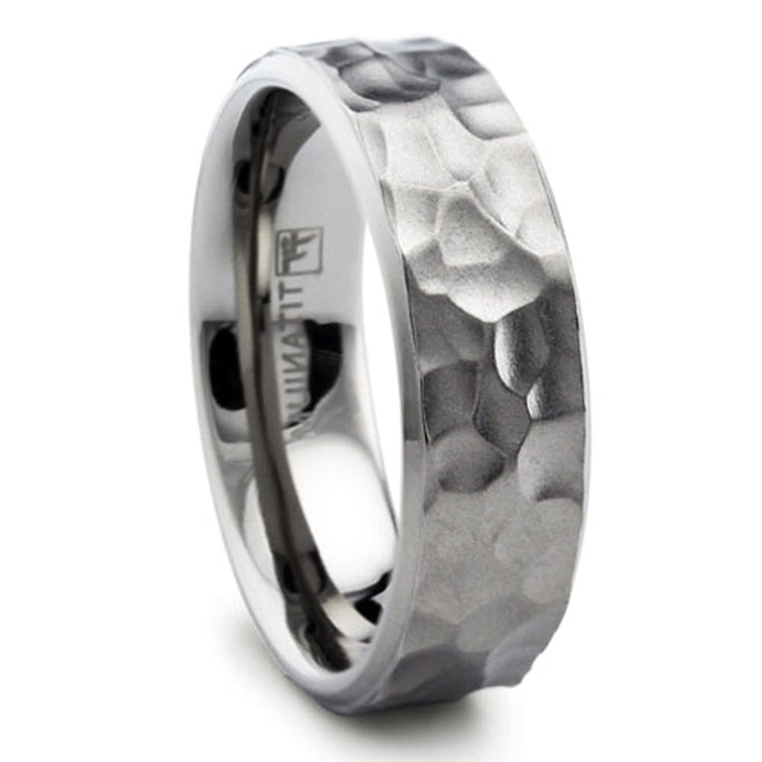 mens band titanium by product camo wedding ring bands bevel rings