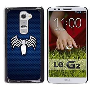 MOBMART Carcasa Funda Case Cover Armor Shell PARA LG G2 - Crazy Electrocuted Bat