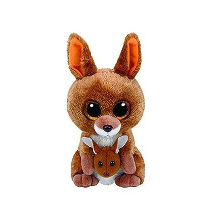 FONGFONG Ojos Grandes Canguro Simulación de Animales de Dibujos Animados Peluches Muñeca Animales Relleno de Juguete