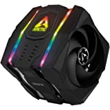 ARCTIC Freezer 50 - Multi Compatible Dual Tower CPU Cooler with A-RGB CPU Cooler for AMD and Intel, Two Pressure-Optimised Fa