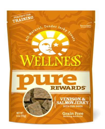Wellness Grain-Free Treats for Dogs, Pure Rewards Venison and Salmon, 6-Ounce Pouch, My Pet Supplies