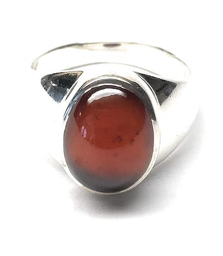 Sterling Silver Hesionite Garnet Stone Ring