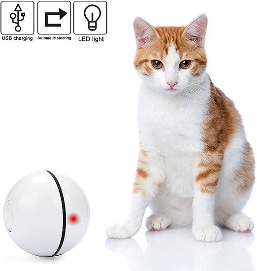 Vintoney Pelota de Gatos Movimiento Pelota de Ejercicio Gatos Bola Recargable de Giratoria para Mascotas, Juguete Interactivo para Perros y Gatos (Blanco): Amazon.es: Productos para mascotas