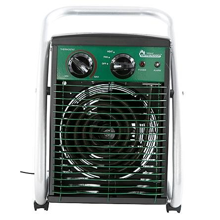 Modern Durable Steel Infrared 1500W Greenhouse Heater | Contemporary Indoor / Outdoor Rooms Space Heater for Your Home Planthouse or (Green Heater)