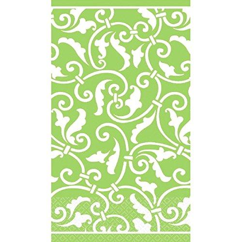 Kiwi Ornamental Scroll Guest Paper Towels | 16 Ct. | 8