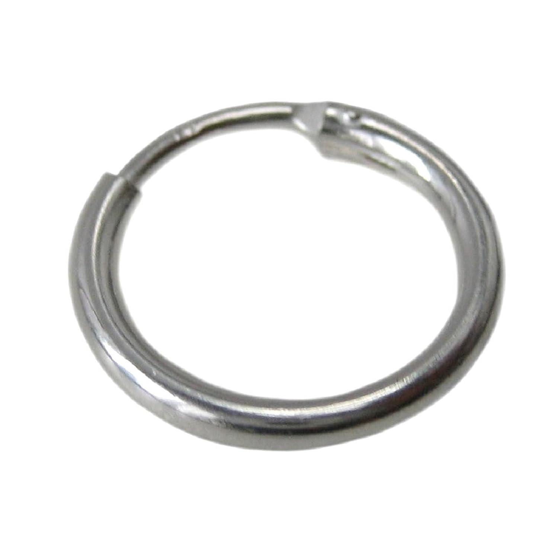 mens chunky thick sterling silver 13mm hoop sleeper earring