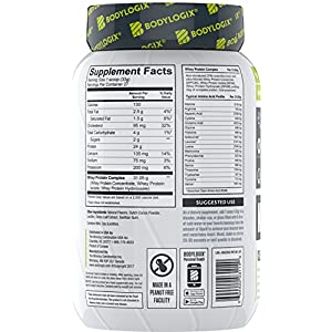 Bodylogix Natural Grass-Fed Whey Protein Powder, NSF Certified, Decadent Chocolate, 2 Pound