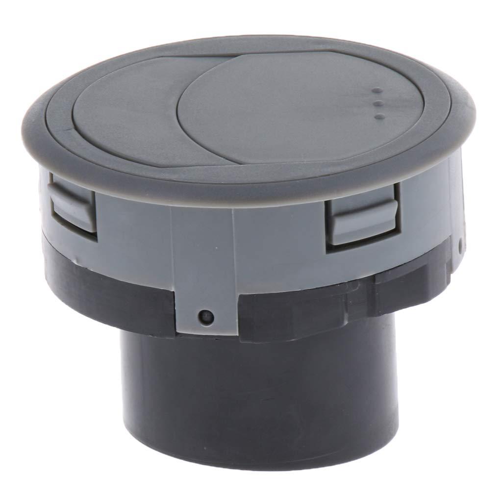 Gris 70x45mm 1 pieza Salida de Ventilaci/ón de Aire de Parilla Pl/ástico para Barco Duro