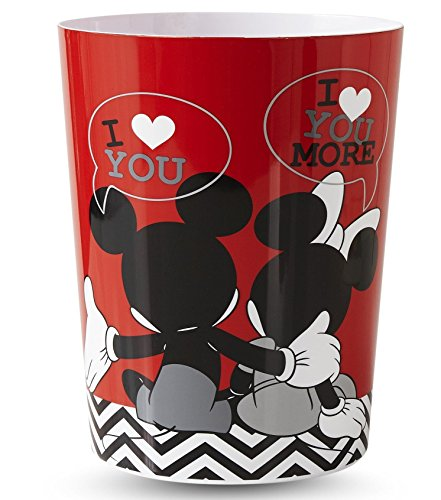 Disney Mickey & Minnie Mouse Wastebasket (Mickey And Minnie Bathroom Set)