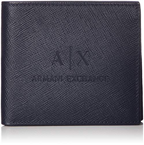 Armani Exchange Men's Bifold Credit Card Wallet, navy UNI
