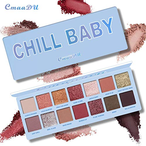 Cargo Eye Glitter - Lljin 14 Color Waterproof Eye Shadow Plate Powder Matt Eyeshadow Cosmetic Makeup