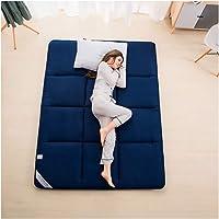 Tatami mattress, Four Seasons Foldable mattress, Student Dormitory Double/Single Sponge Soft mattress mattress,Blue