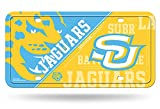 Rico NCAA Southern Jaguars Metal License Plate Tag, Multicolor, 6'' x 12''