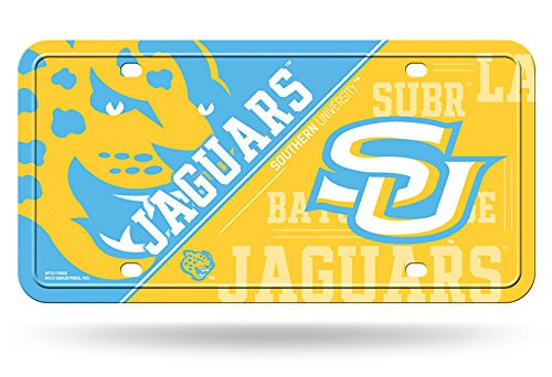 Rico NCAA Southern Jaguars Metal License Plate Tag, Multicolor, 6'' x 12'' by Rico