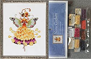 Mirabilia Counted Cross Stitch Chart with Embellishment Pack ~ BUTTERCUP #195