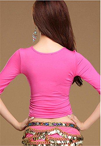 ventre confortable veste de formation en danse / manteau yoga / pratique de la danse rose loNS1Der