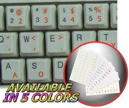 Dvorak simplificado teclado pegatinas con naranja letras fondo transparente
