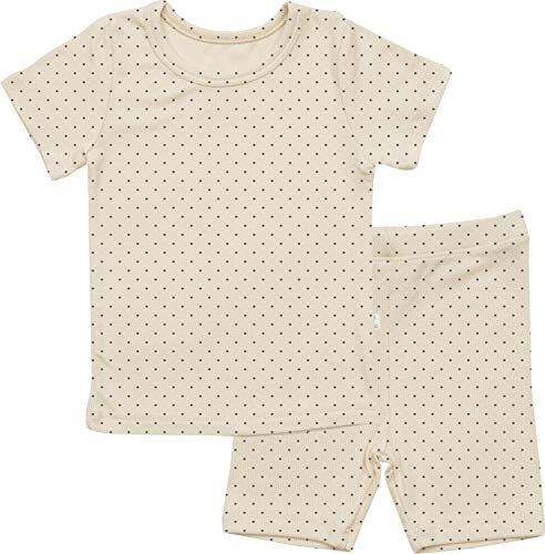 AVAUMA Newborn Baby Little Boys Snug-Fit Polka Dot Pajamas Summer Short Sets Pjs Kids Clothes (JL / Beige)
