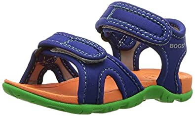 BOGS Whitefish Kids Athletic Sport Water Sandal for Boys and Girls, Solid Blue, 4 M US Toddler
