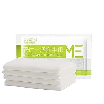 Suave cómoda toallas blancas desechables para viajes de negocios: Amazon.es: Hogar