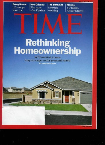 Time Magazine September 6, 2010, Vol. 176 No. 10: Rethinking Homeownership