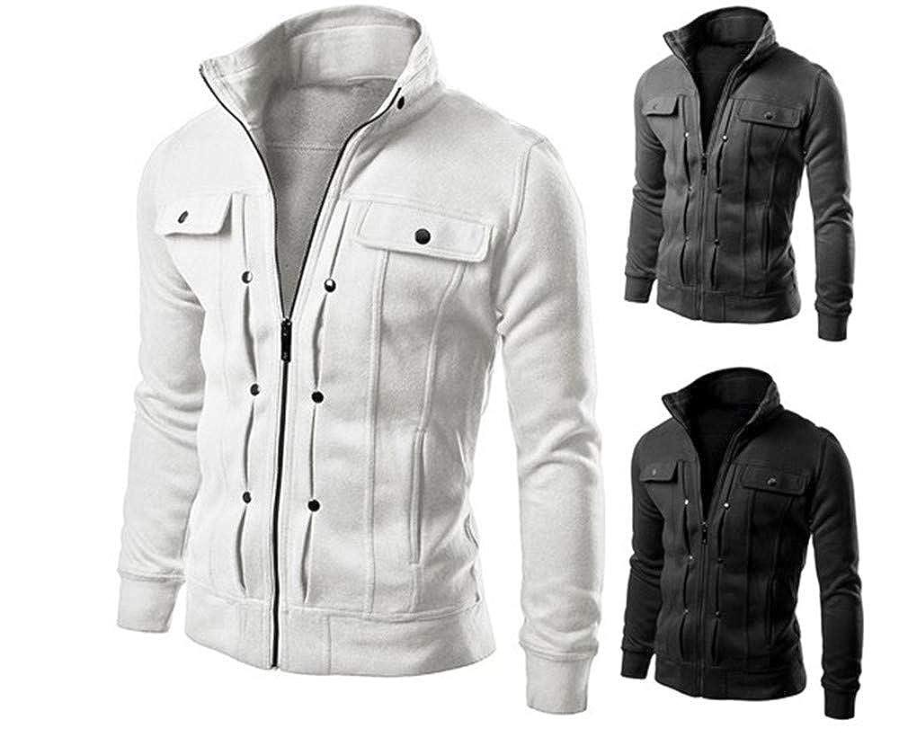 Cardigan Multi Button Hoodies Men Fashion Tracksuit Male Sweatshirt Men Purpos